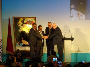 Fadi Chehadé ex-CEO, Akram Atallah CEO par interim, Göran Marby futur CEO et Steve Crocker du Board ICANN
