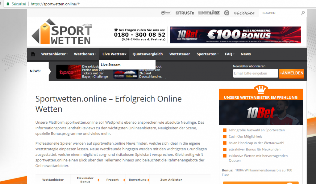 New gTLD - exemple Sport Wetten