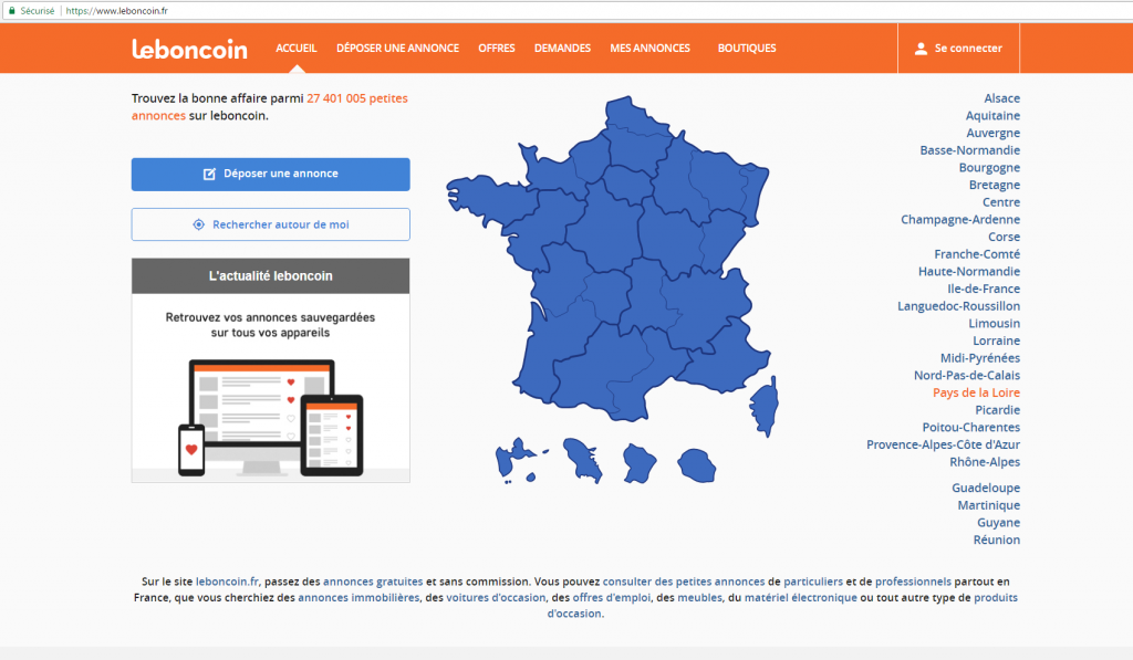 Site leboncoin.fr