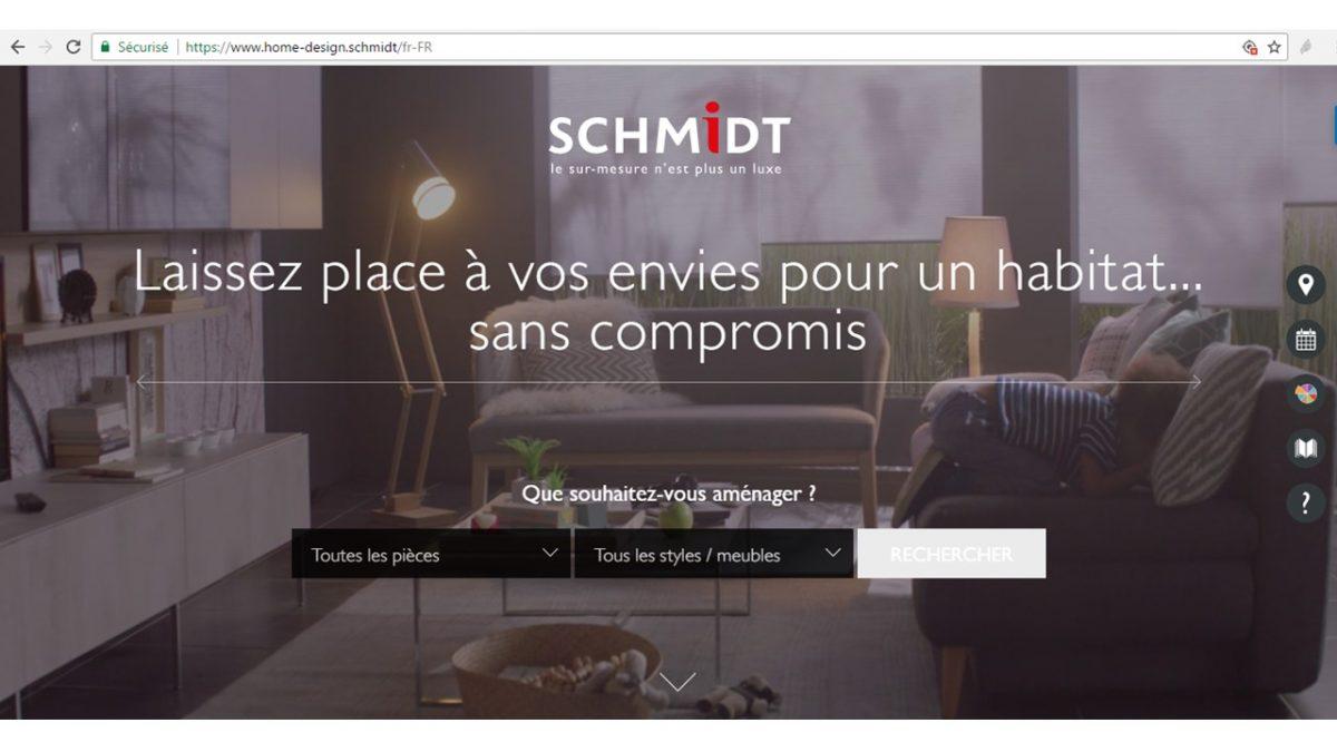 Schmidt lance son nouveau site en .marque : Home-design.schmidt