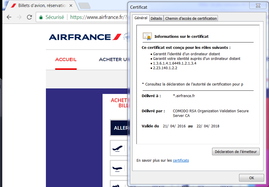 Typosquatting Air France