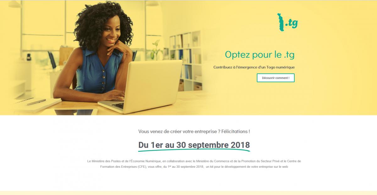 Le gouvernement togolais lance une campagne de gratuité pour inciter les nouvelles entreprises locales à communiquer en .TG