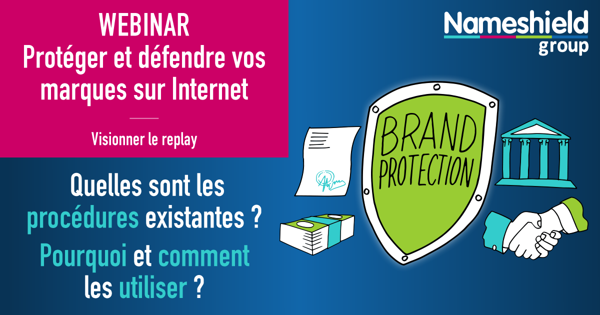 Webinar protection des marques - Nameshield - Webinars en replay