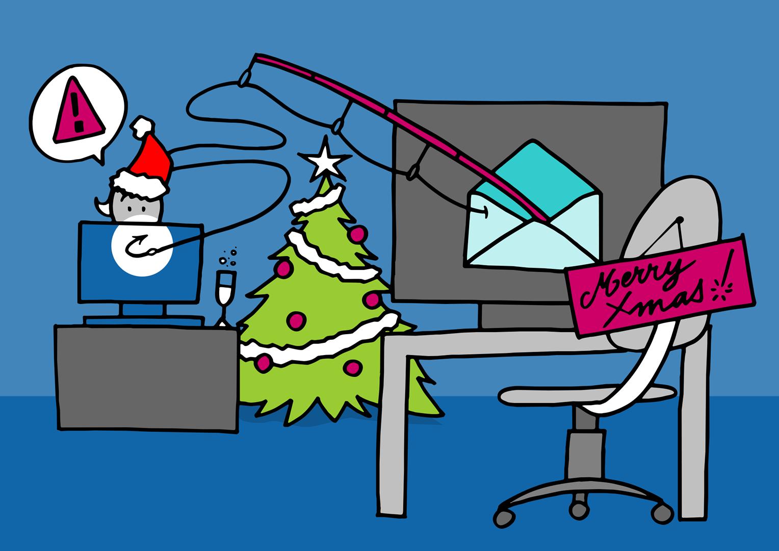 Phishing, slamming et autres e-mails frauduleux : redoublez de vigilance pendant les fêtes de fin d'année!