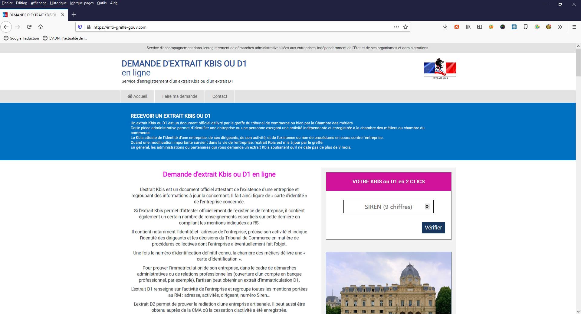 L'importance stratégique des noms de domaine du service Public - exemples de sites non-officiels