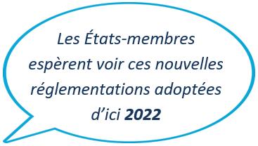 Les États-membres espèrent voir ces nouvelles réglementations adoptées d'ici 2022